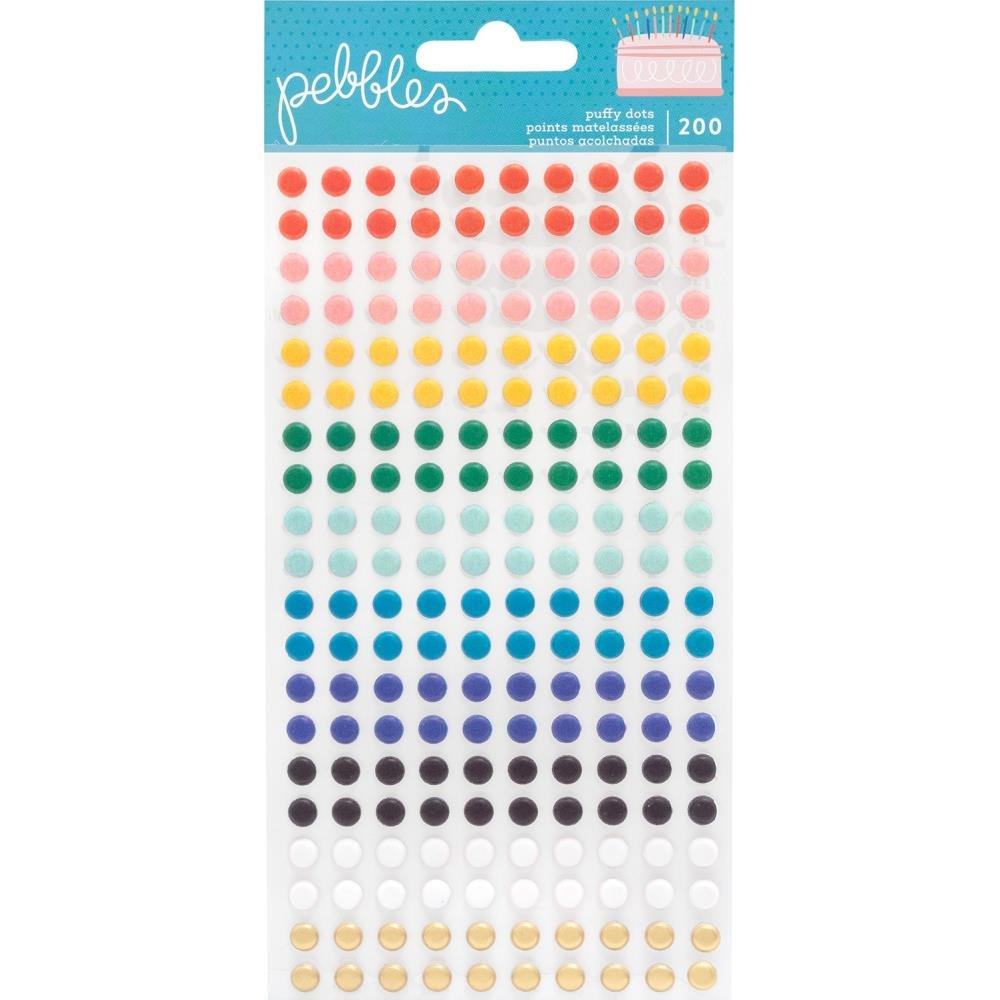 Happy Cake Day-Puffy Dot Stickers