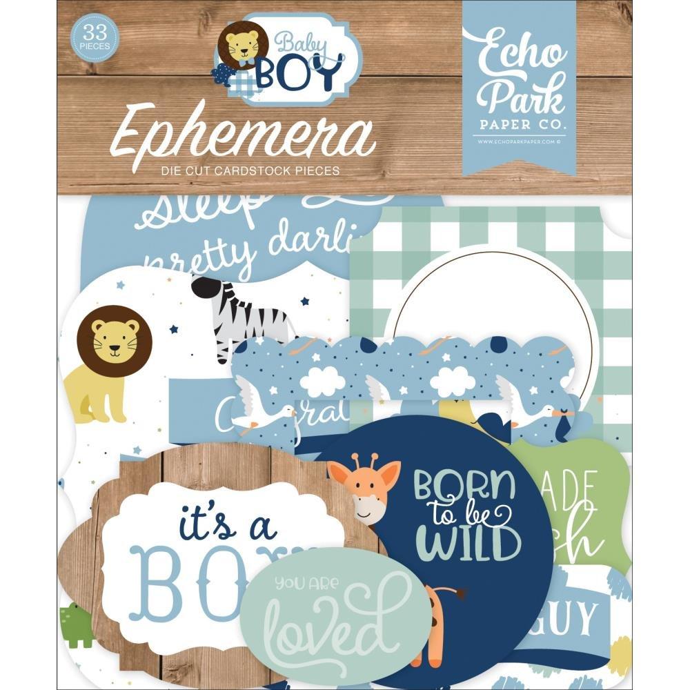 Baby Boy Ephemera-Icons