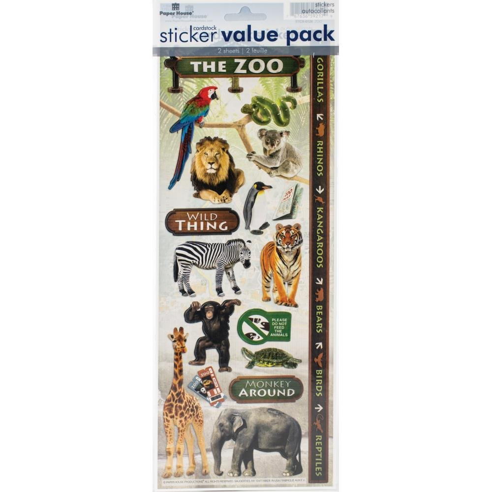 Sticker Value Pack-Zoo
