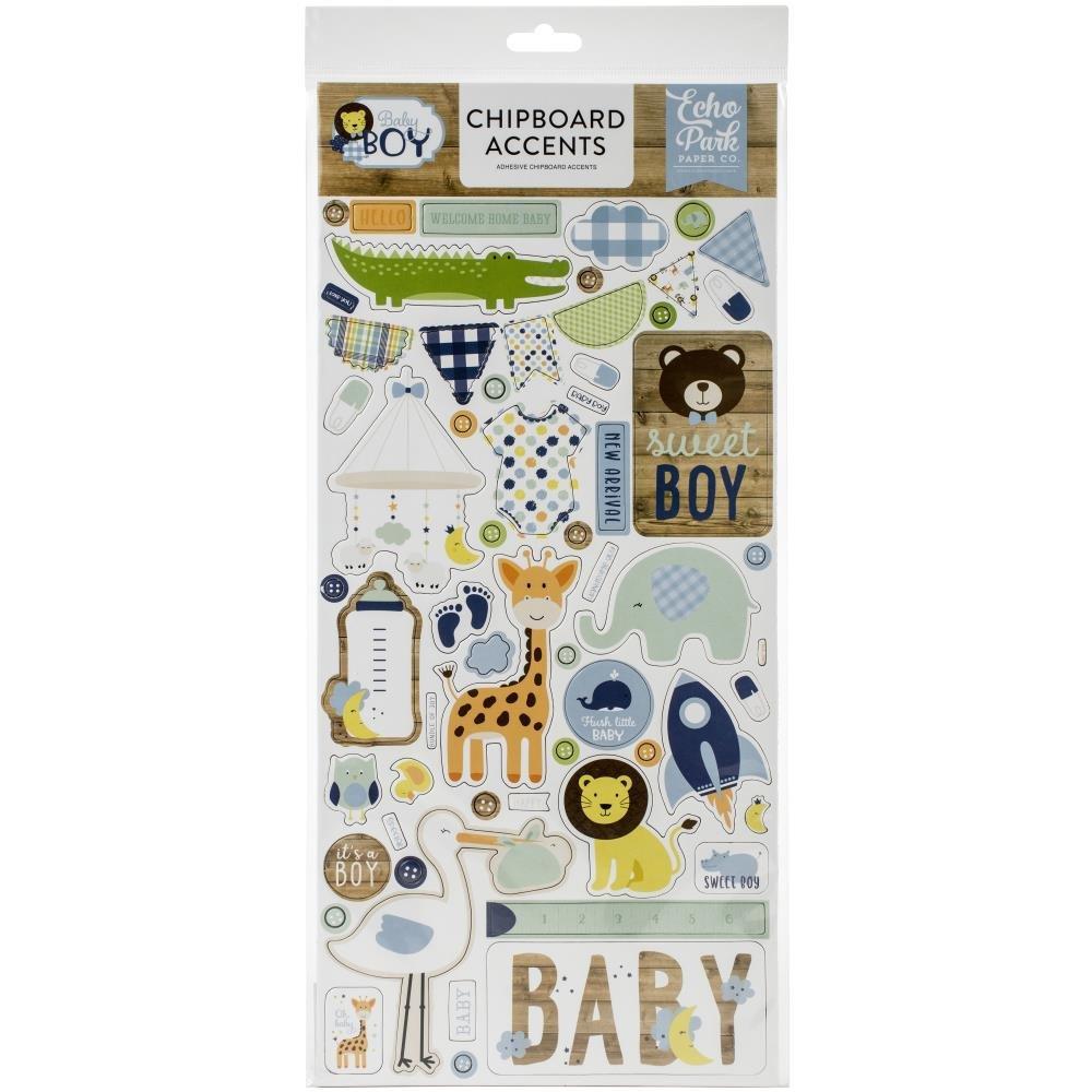 Baby Boy Chipboard-Accents