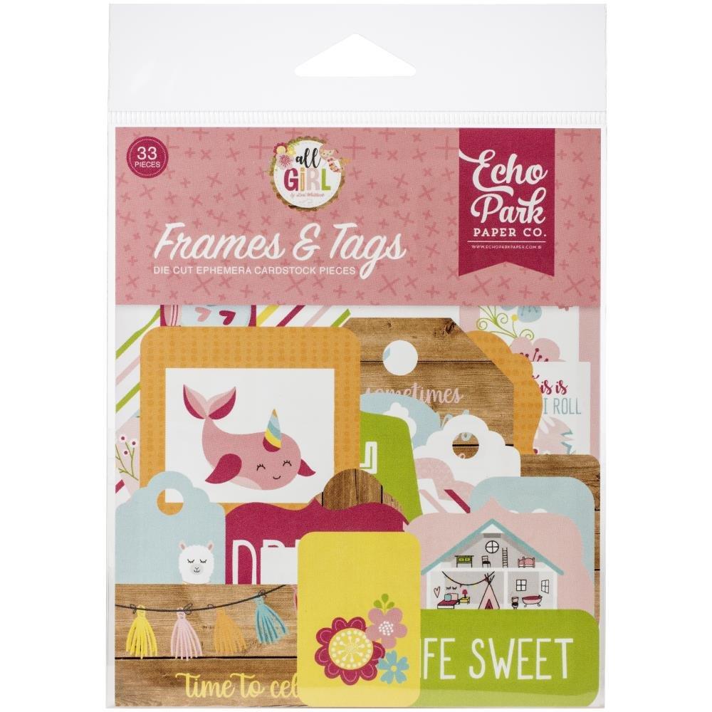 All Girl Ephemera-Frames & Tags