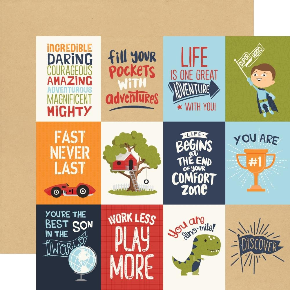 All Boy-3x4 Journaling Cards