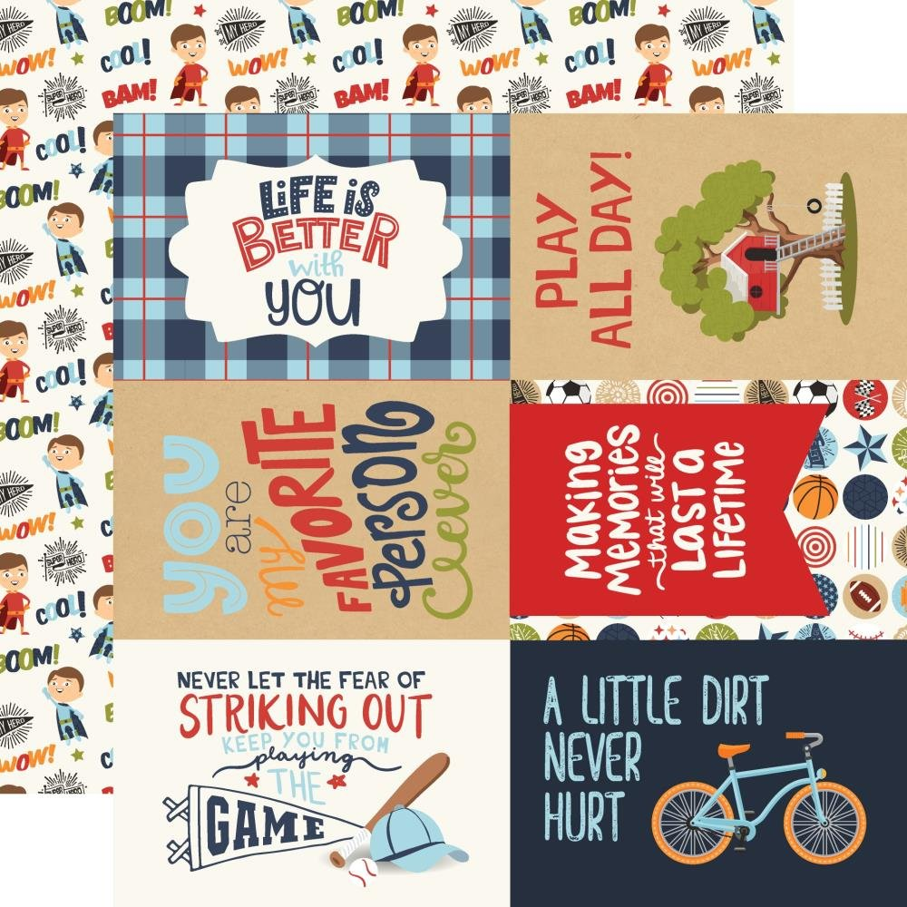 All Boy-4x6 Journaling Cards