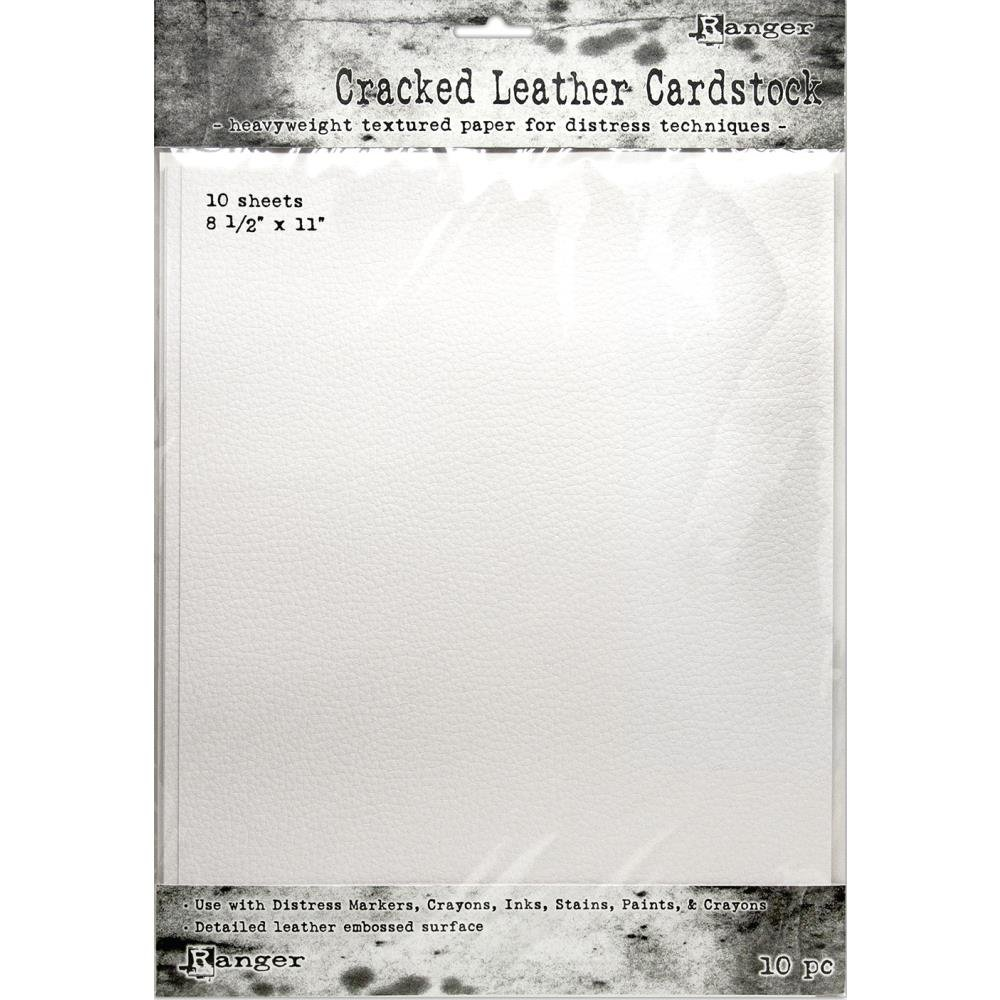 Tim Holtz Cracked Leather Cardstock 8.5x11