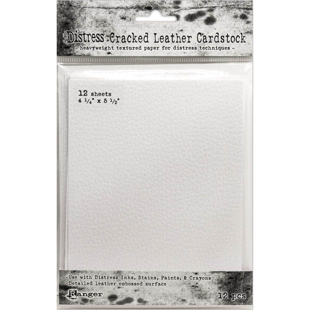 Tim Holtz Cracked Leather Cardstock 4.25x5.5