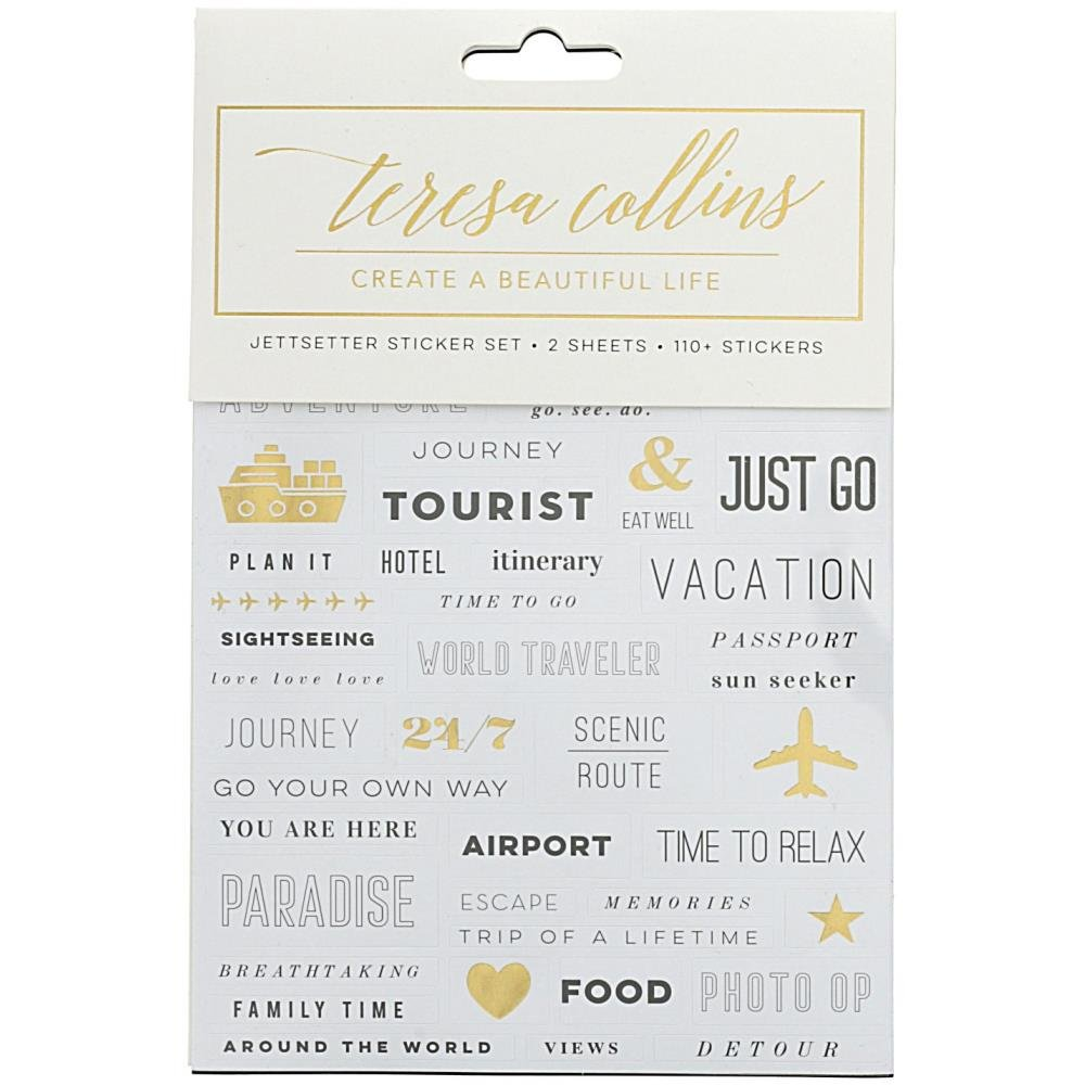 Teresa Collins Jet Setter Stickers