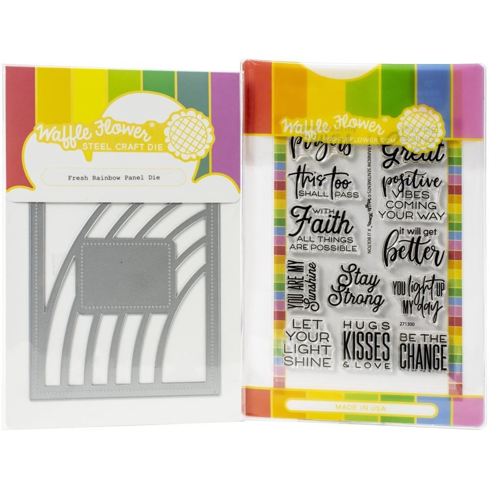 Waffle Flower-Fresh Rainbow Stamp & Die Bundle