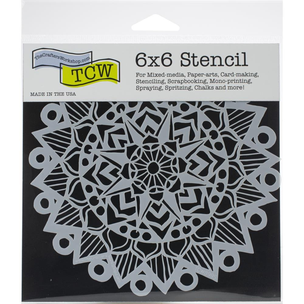 The Crafter's Workshop 6x6 Stencil-Striped Mandala