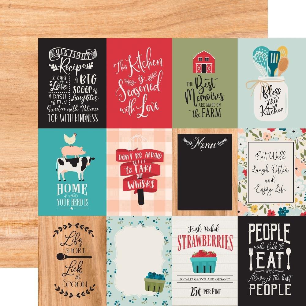 Farmhouse Kitchen-3x4 Journaling Cards