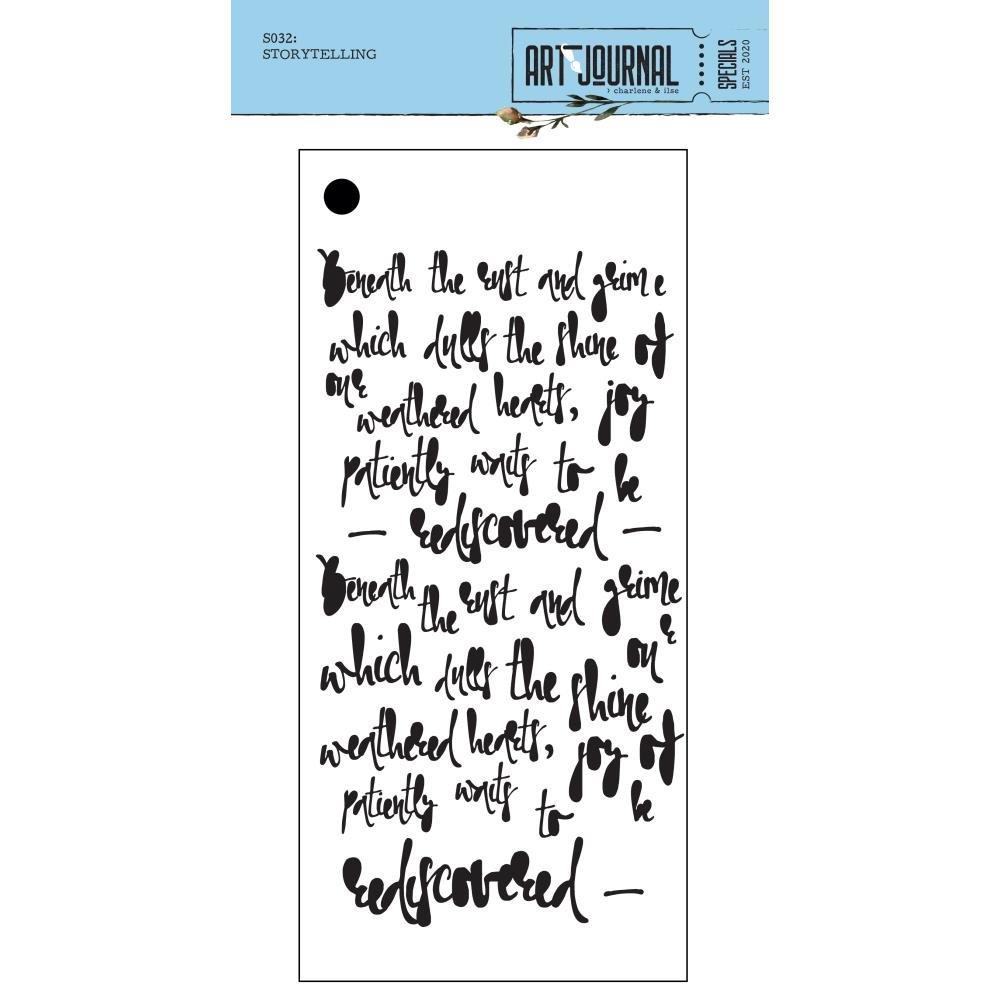Art Journal Stencil 4.3X8.7-Story Telling