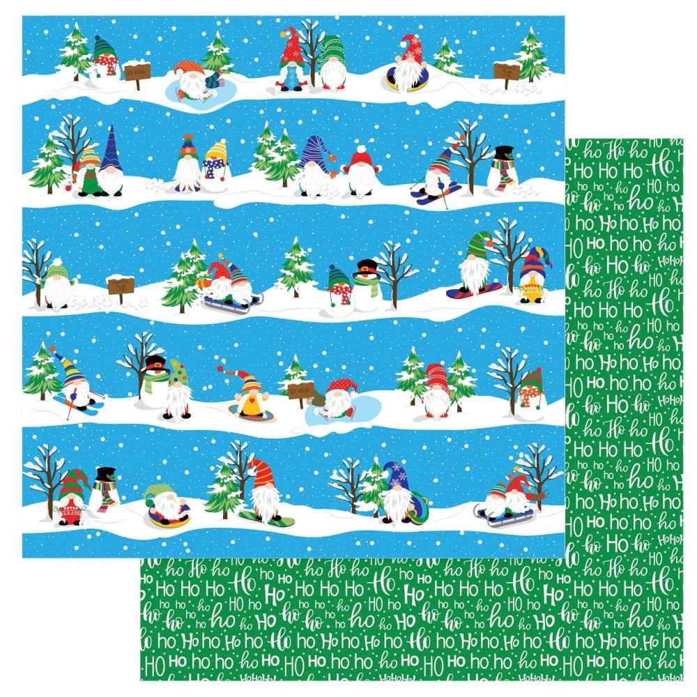 Gnome For The Holidays Christmas-Ski Slopes