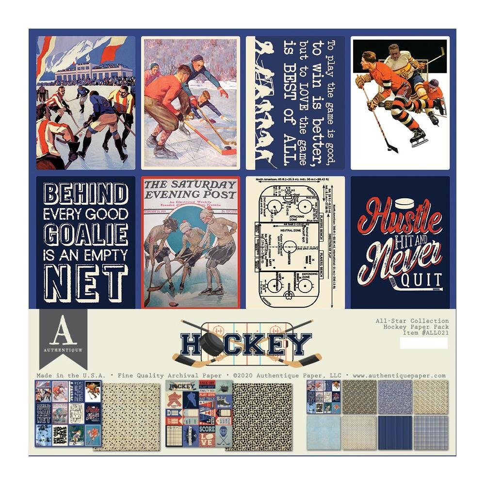 Authentique Hockey Paper Pack