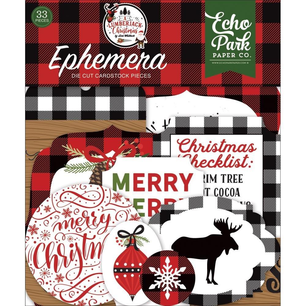 A Lumberjack Christmas Ephemera Icons
