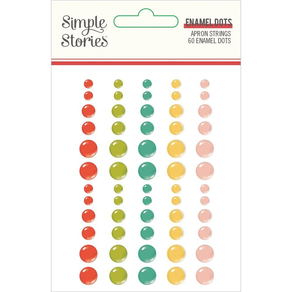 Apron Strings Enamel Dots