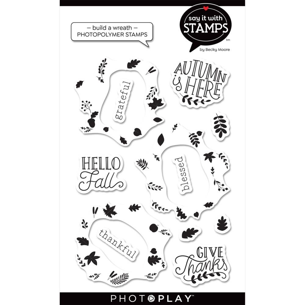 Say It With Stamps-Fall Build A Wreath Stamp & Die Bundle