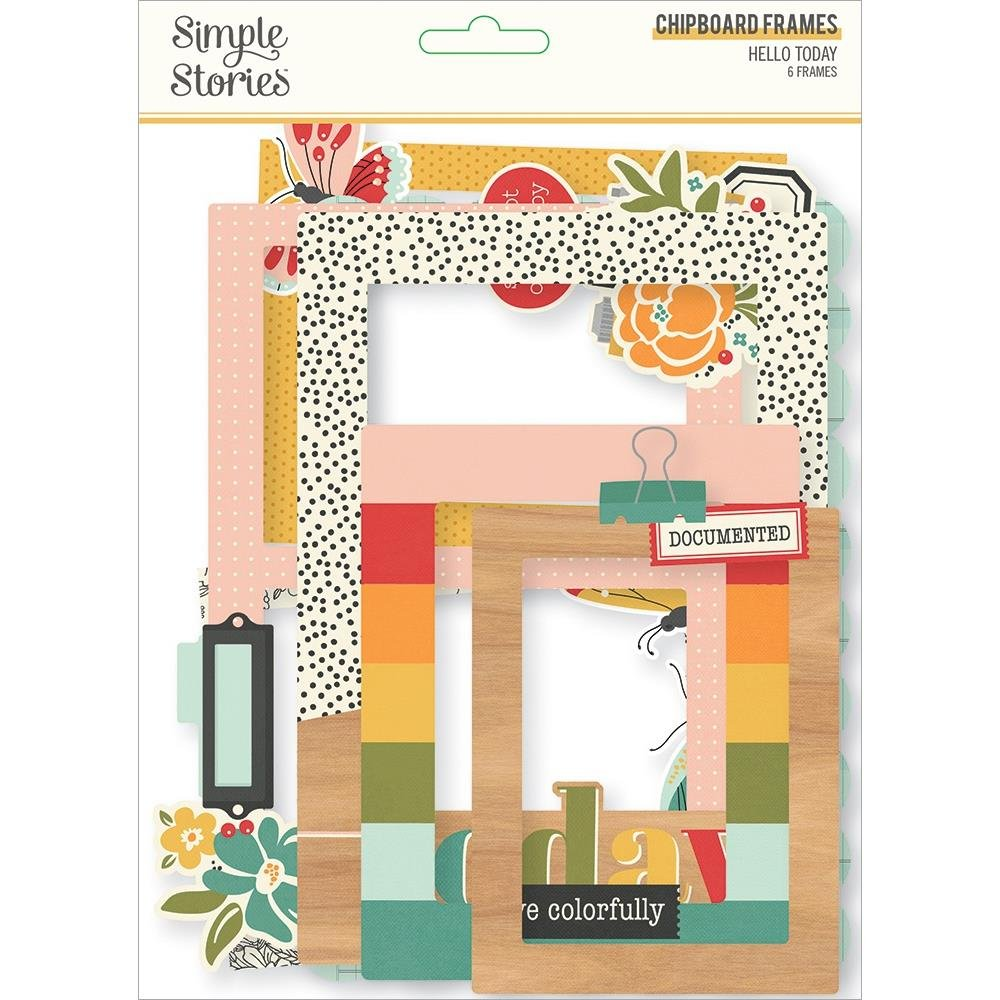 Hello Today Chipboard Frames