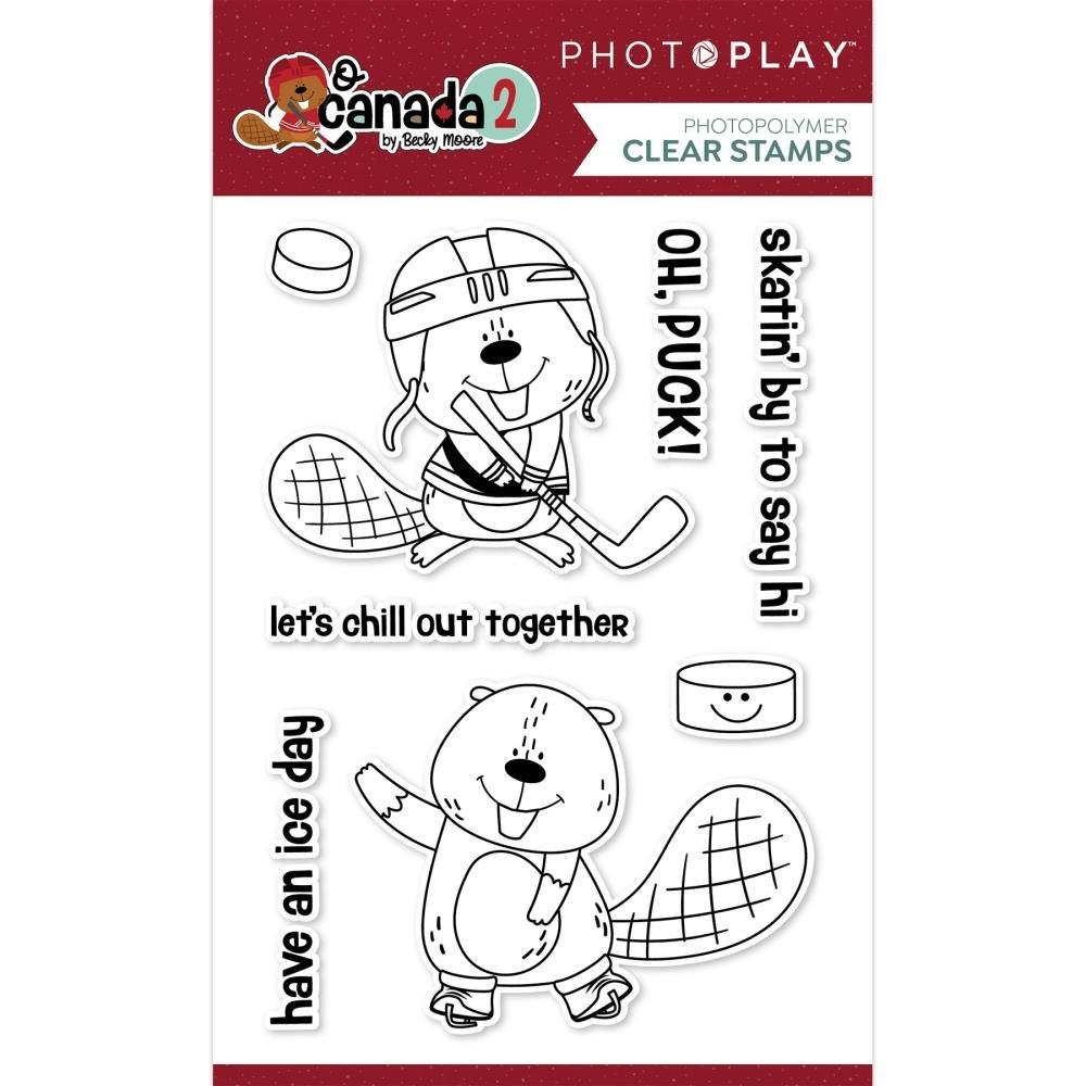 O Canada 2 Beaver Hockey Stamp & Die Bundle