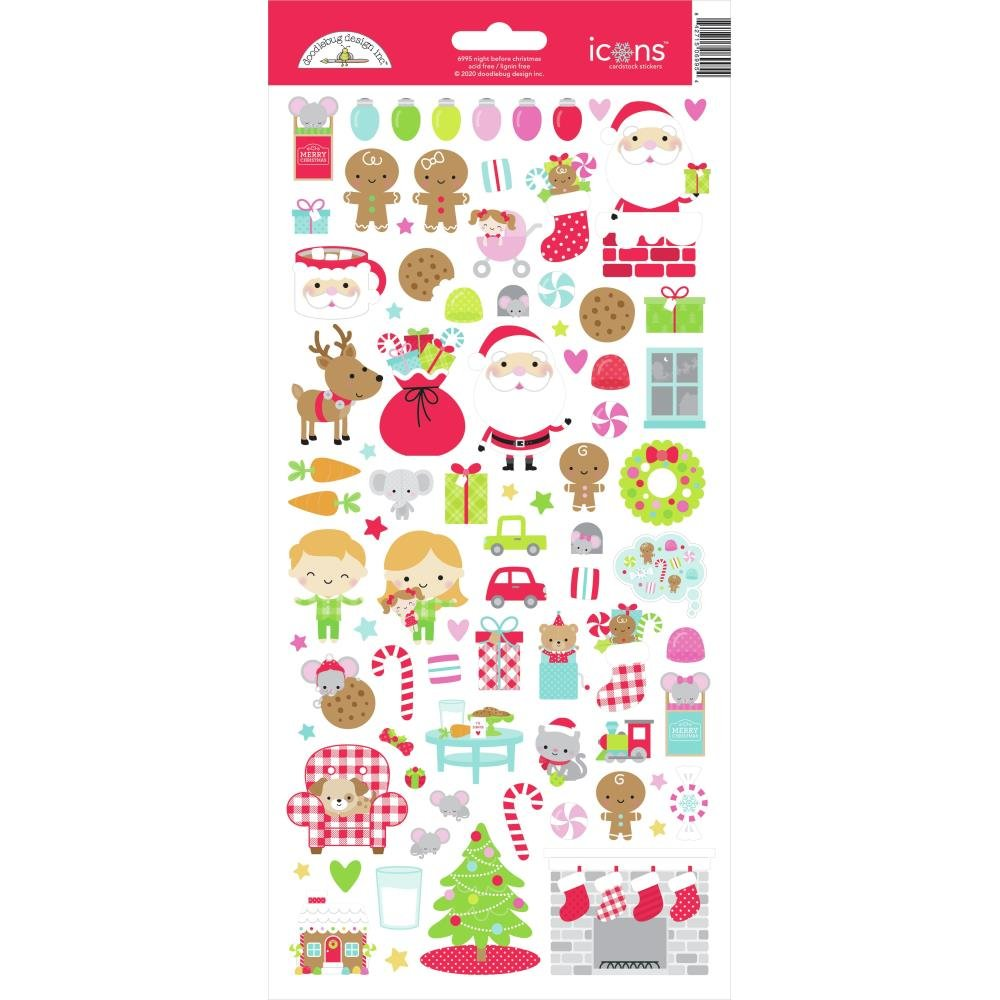 Night Before Christmas Icon Stickers