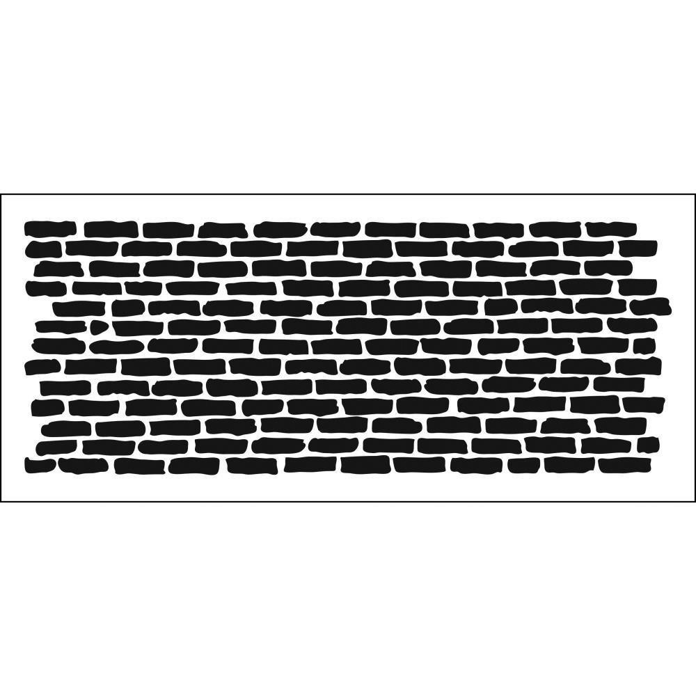 The Crafter's Workshop Slimline Stencil-Bricks Horizontal