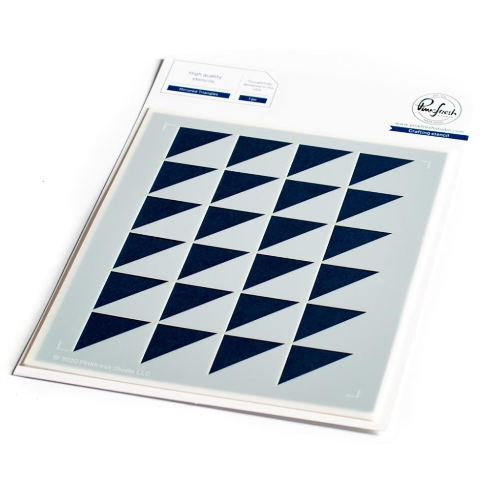 Pinkfresh Studios Stencil-Mirrored Triangles