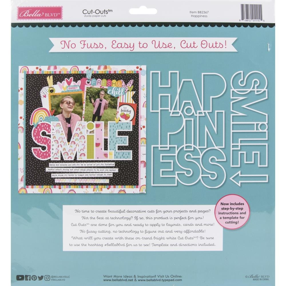 Bella Besties Cut-Outs-Happiness