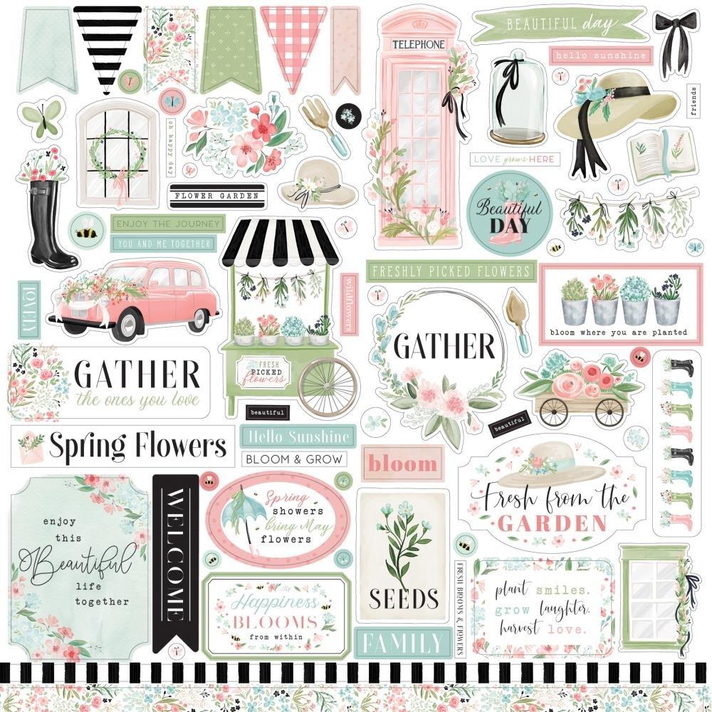 Flower Garden Element Stickers