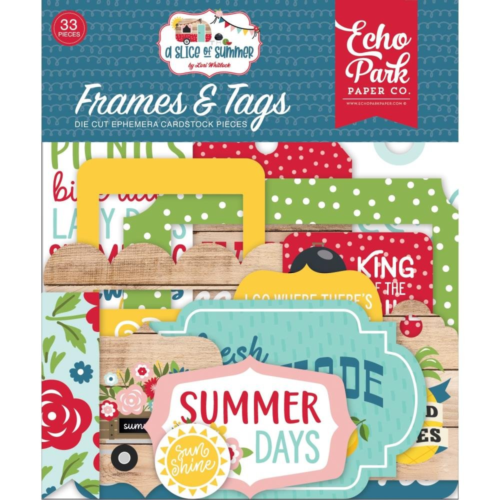 A Slice Of Summer Ephemera Frames & Tags