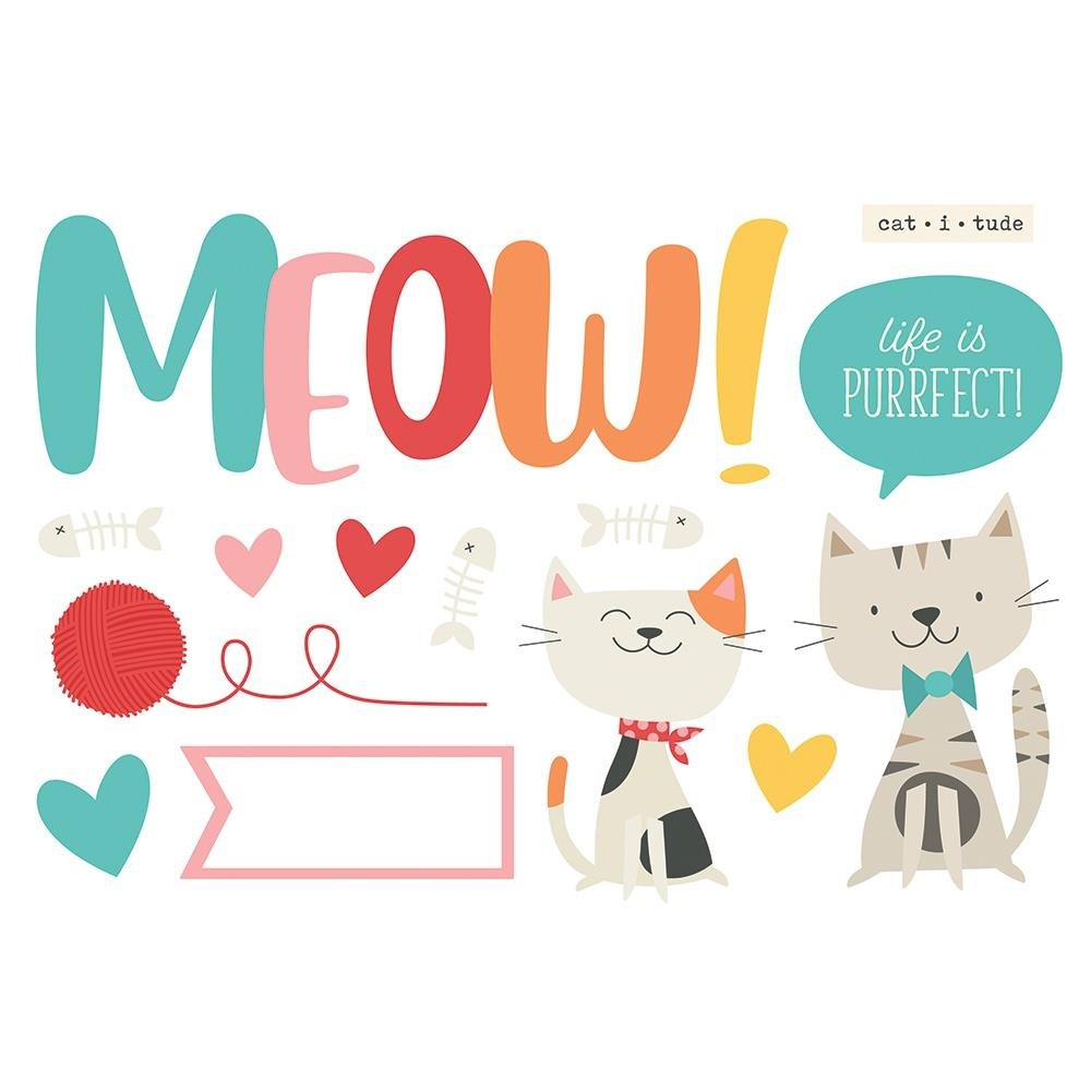 Simple Page Pieces-Meow