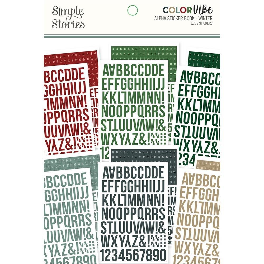 Color Vibe Alpha Sticker Book-Winter