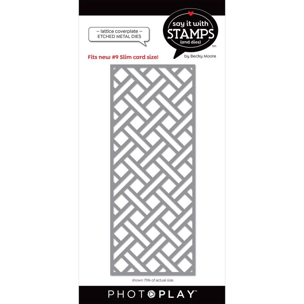 Say It With Stamps-#9 Lattice Coverplate Die