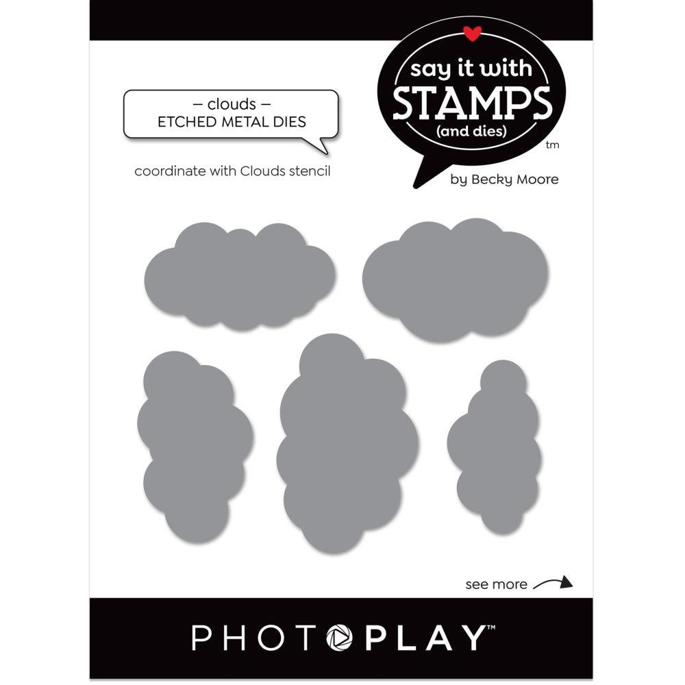 Say It With Stamps-Cloud Dies