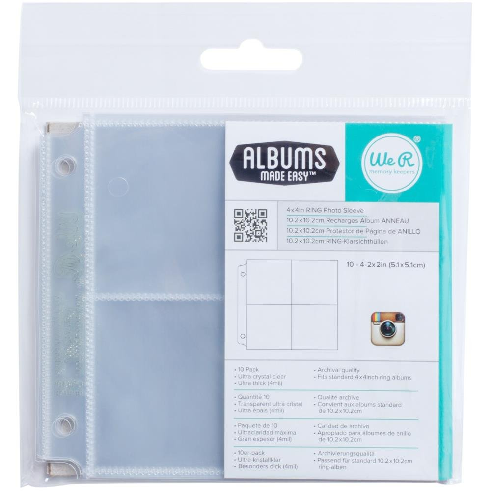 We R Memory Keepers 4x4 Page Refills-(4) 2X2 Pockets