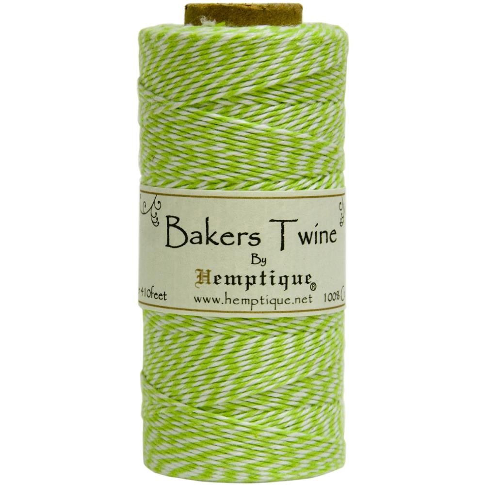 Baker's Twine (by the yard)-Lime & White