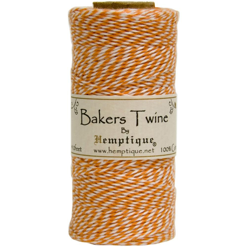 Baker's Twine (by the yard)-Orange & White