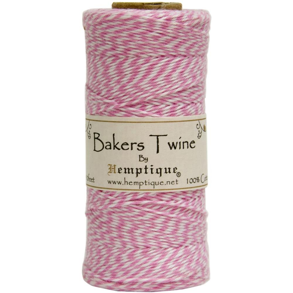 Baker's Twine (by the yard)-Light Pink & White