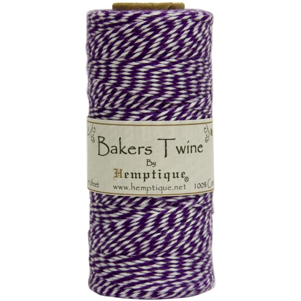 Baker's Twine (by the yard)-Purple & White