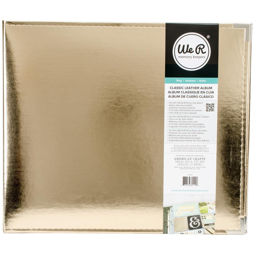 We R Memory Keepers 12x12 Album-Gold #2 (damaged)