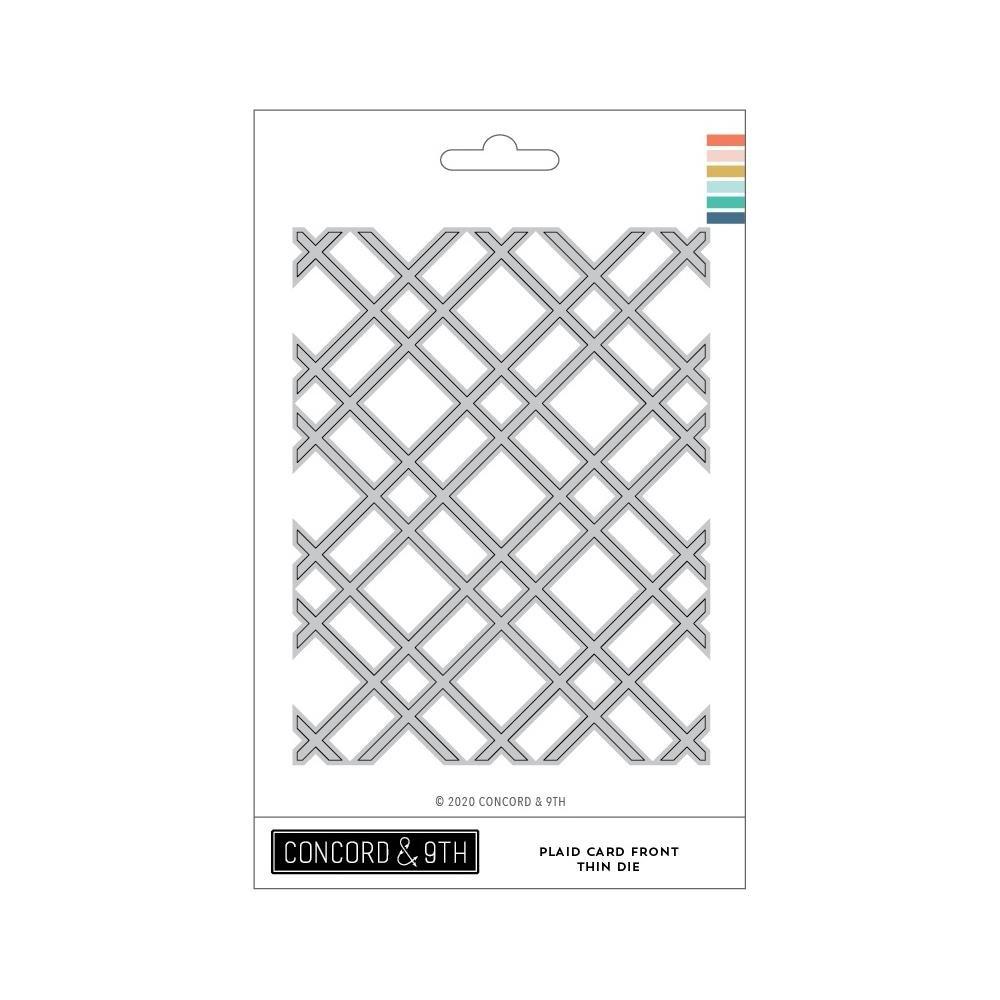 Concord & 9th-Plaid Card Front Die THIN