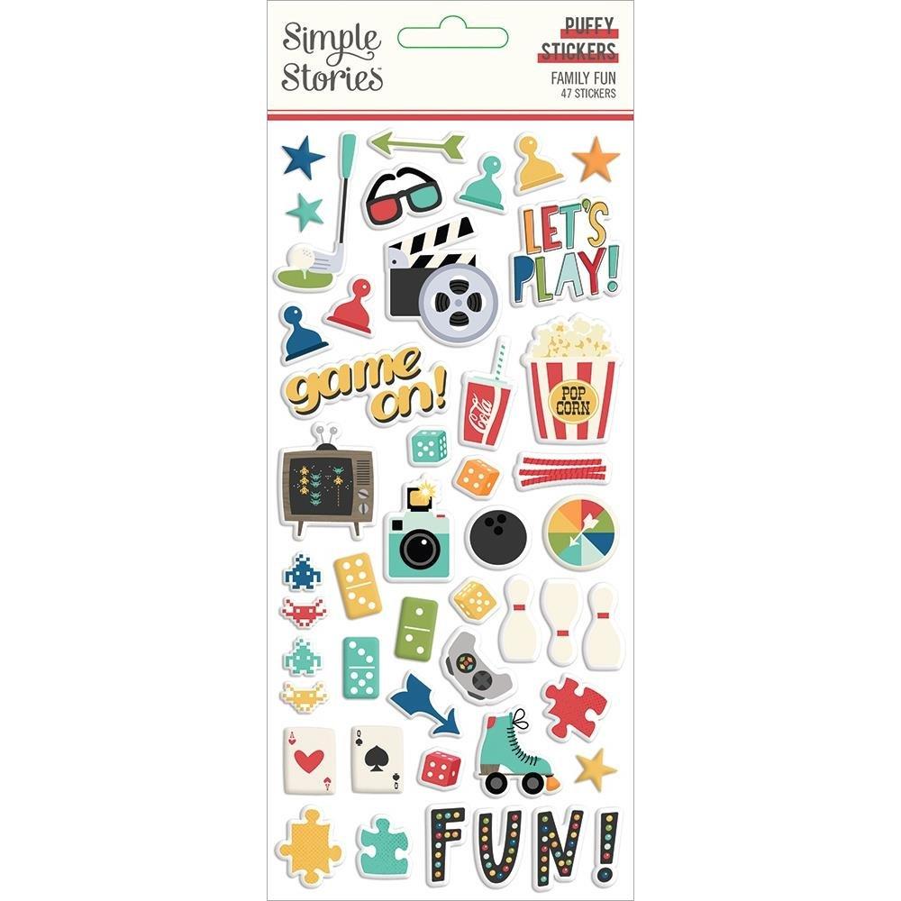 Family Fun Puffy Stickers