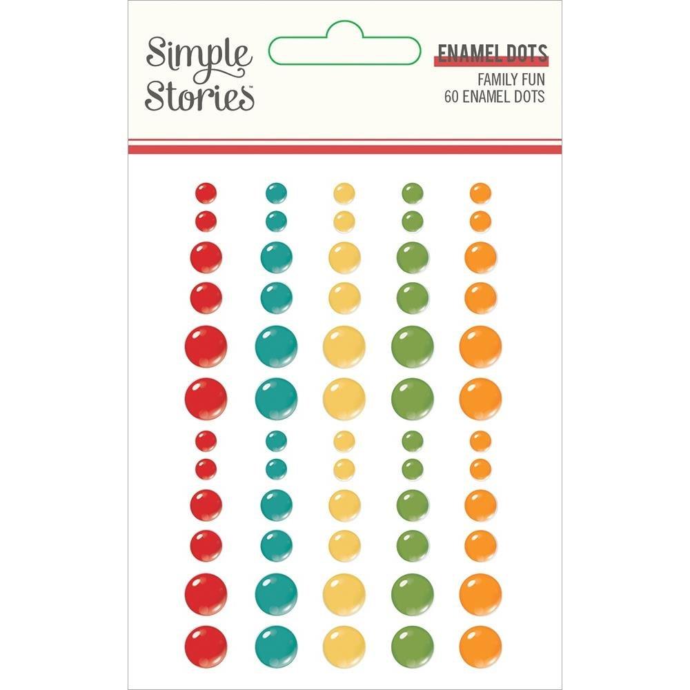 Family Fun Enamel Dots