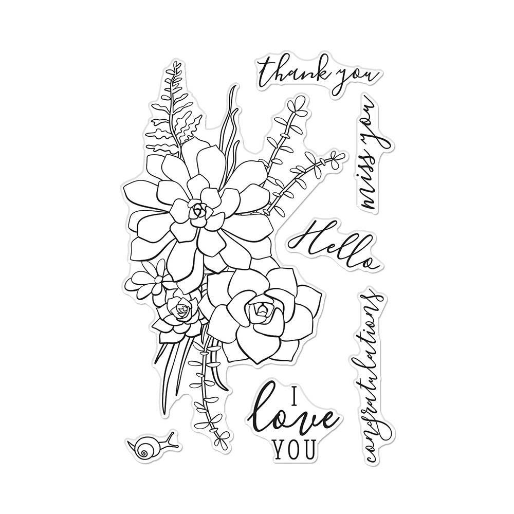 Hero Arts-Succulent Bouquet
