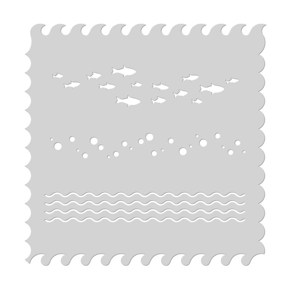 Hero Arts Stencil-Waves Scene