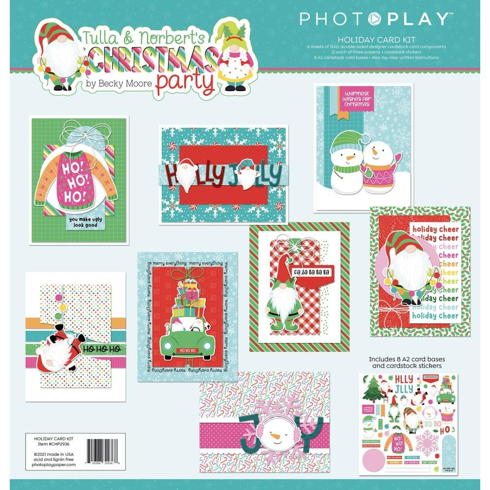 Tulla & Norbert's Christmas Party Card Kit & Extra Sticker Sheet