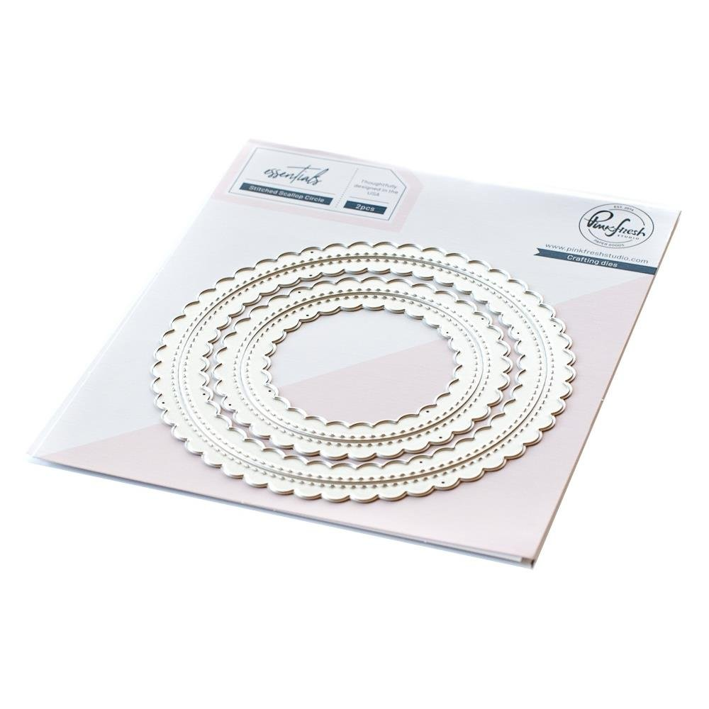 Pinkfresh Studio-Essentials Stitched Scallop Circle Dies