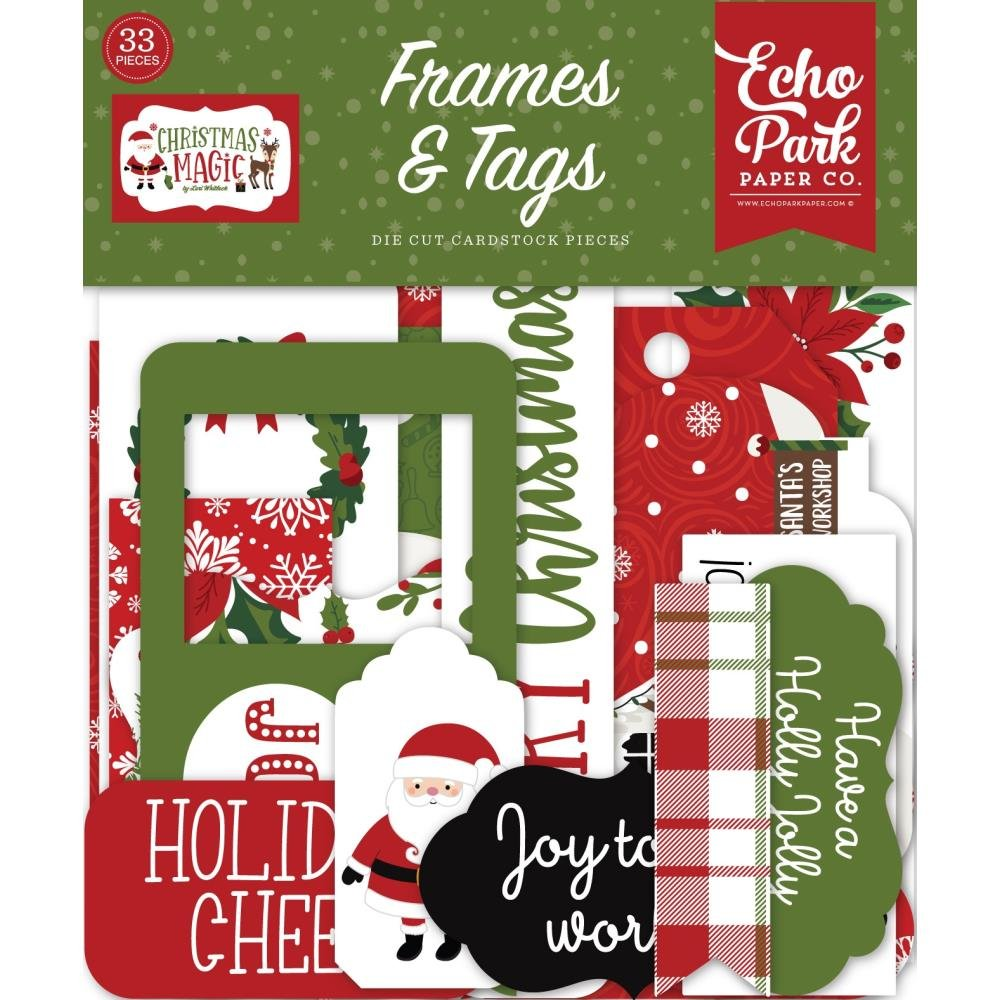 Christmas Magic Ephemera Frames & Tags