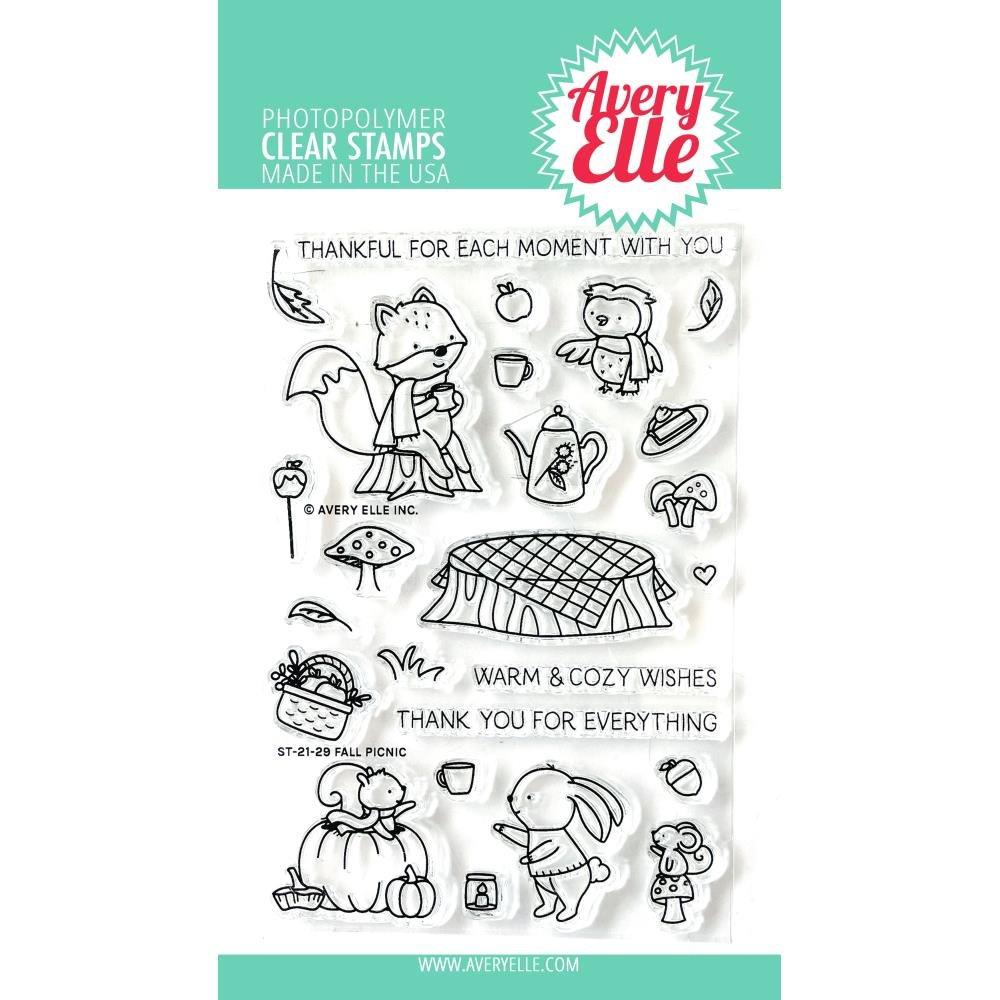 Avery Elle-Fall Picnic Stamp & Die Bundle