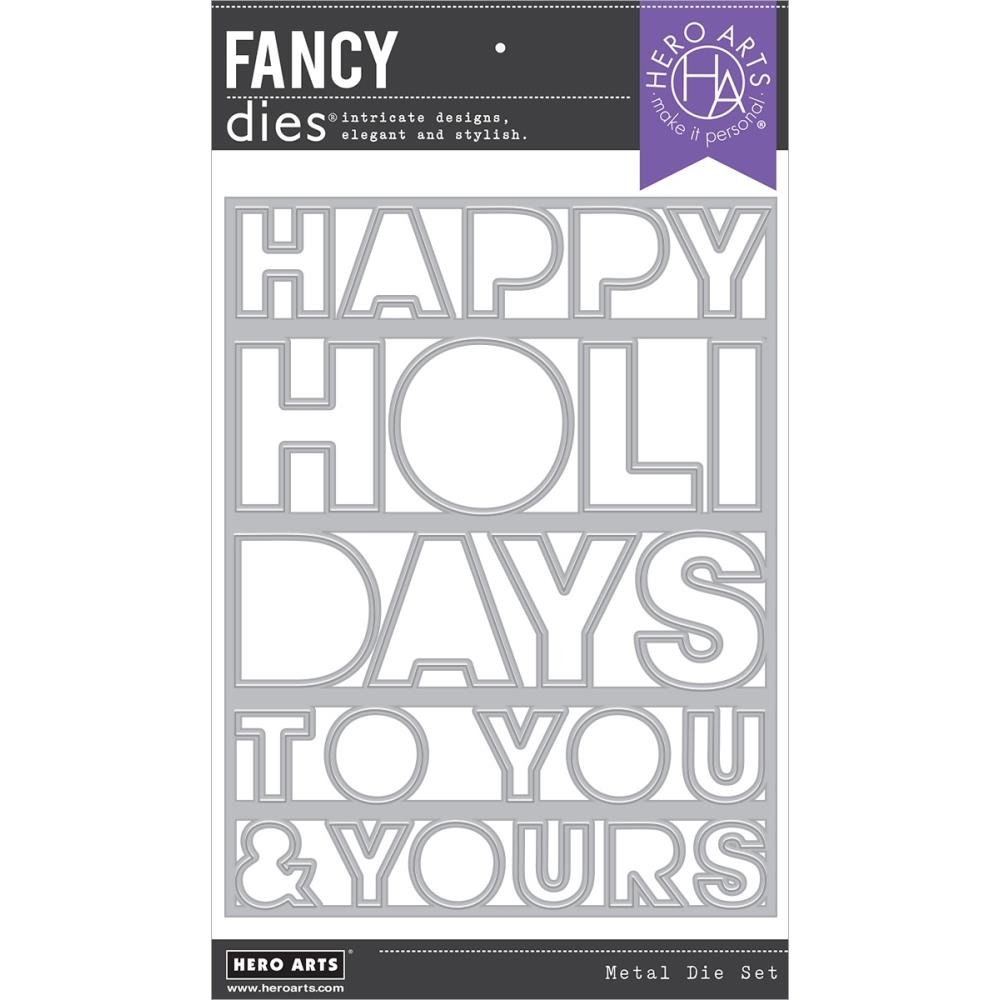 Hero Arts-Happy Holidays Coverplate Die