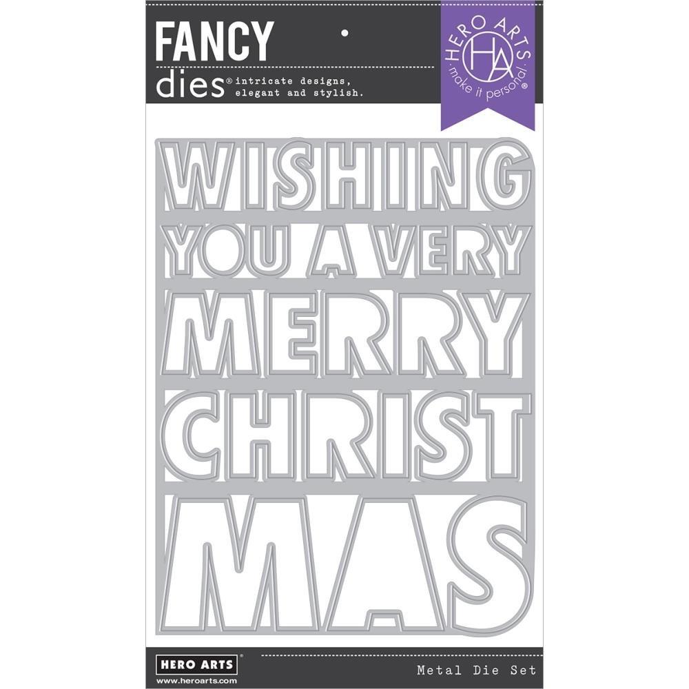 Hero Arts-Very Merry Christmas Cover Plate Die