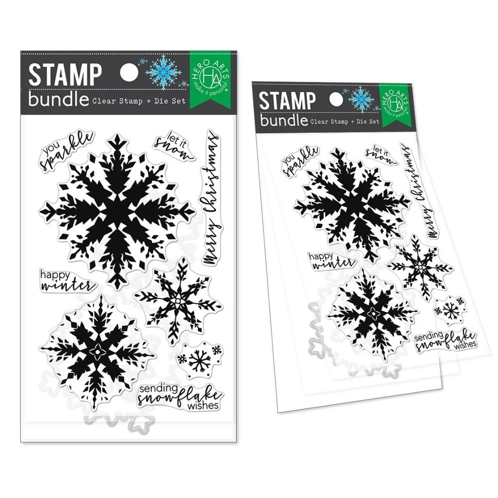 Hero Arts-Layering Snowflake Stamp & Die Bundle