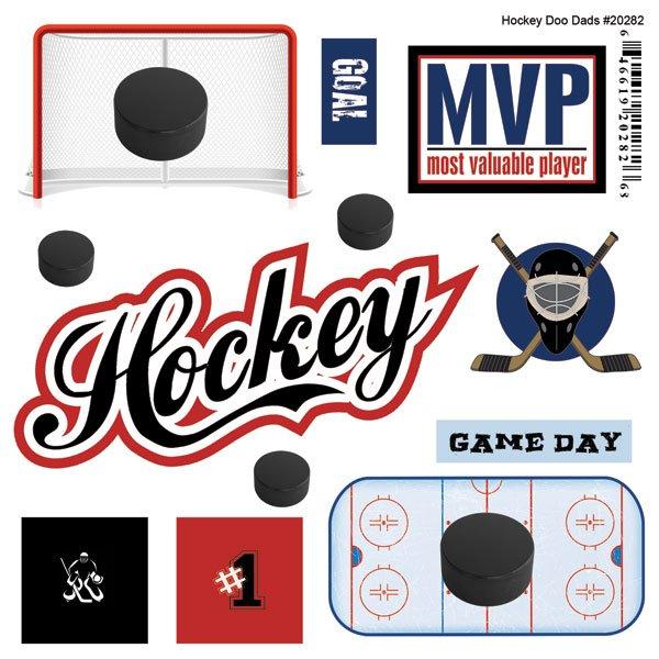 Hockey Mini Doodads Stickers